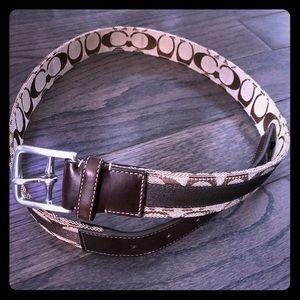 """Authentic Men's Coach belt 34"""" classic brown"""